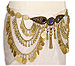 Gold Coin Belly Dance Tribal Hip Chain - At DancingRahana.com