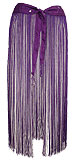 Purple Mirrored Fringe Belt Belly Dance Hip Scarve - At DancingRahana.com
