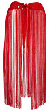 Red Mirrored Fringe Belt Belly Dance Hip Scarve - At DancingRahana.com