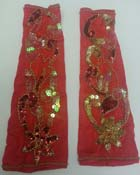 Red Armband Set with Gold