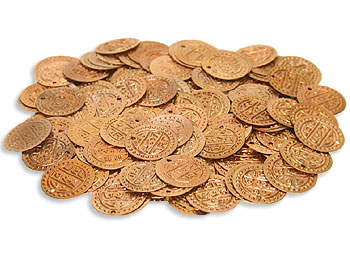 Copper Costume Coins Loose - At DancingRahana.com