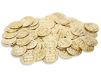 Gold Costume Coins Loose - At DancingRahana.com