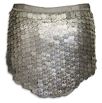 Silver Coin Belly Dance Hip Scarve - At DancingRahana.com