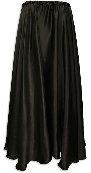 Black Satin Pleated Circle Skirt At www. DancingRahana.com