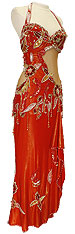 Crimson Red Dress Belly Dance Costume